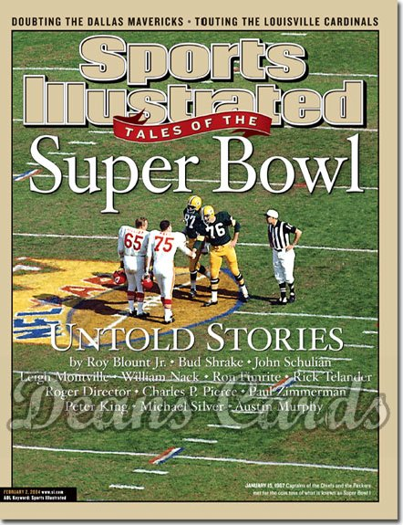 2004 Sports Illustrated - With Label   February 2  -  Super Bowl Tales Skoronski Davis Packers