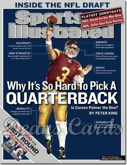 2003 Sports Illustrated - With Label   April 28  -  Carson Palmer (USC Trojans)