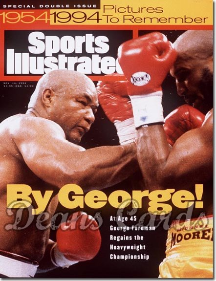 1994 Sports Illustrated - With Label   November 14  -  George Foreman / Michael Moorer