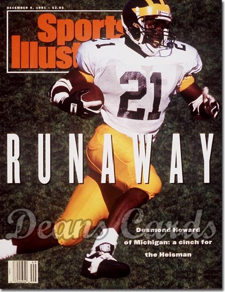 1991 Sports Illustrated - With Label   December 9  -  Desmond Howard (Michigan Wolverines)