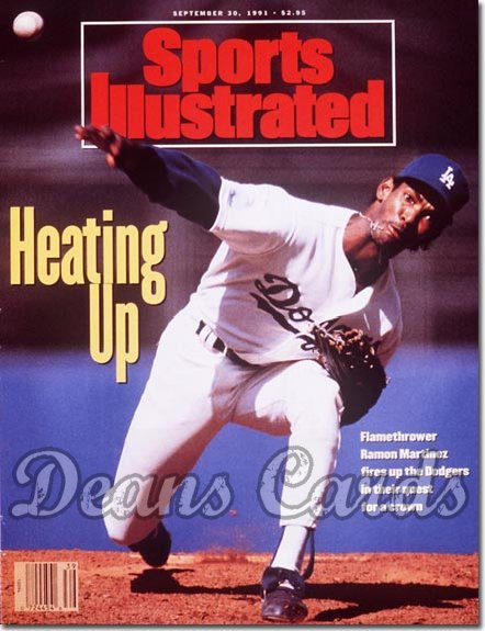 1991 Sports Illustrated - With Label   September 30  -  Ramon Martinez (LA Dodgers)