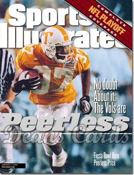 1999 Sports Illustrated - With Label   January 11  -  Peerless Price Tennessee Volunteers