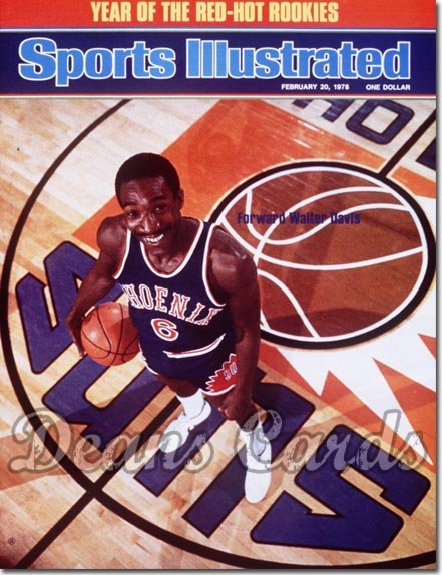 1978 Sports Illustrated - With Label   February 20  -  Walter Davis (Phoenix Suns)