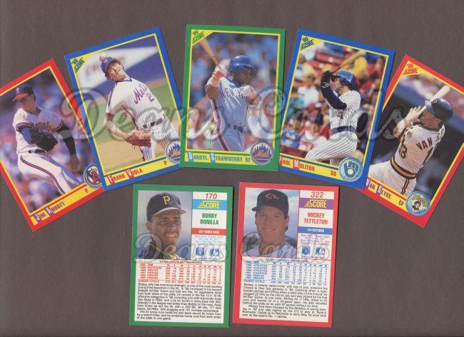 1990 Score 1990 Score Baseball Complete Set