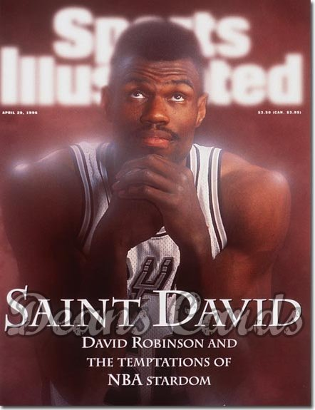 1996 Sports Illustrated - With Label   April 29  -  David Robinson (San Antonio Spurs)