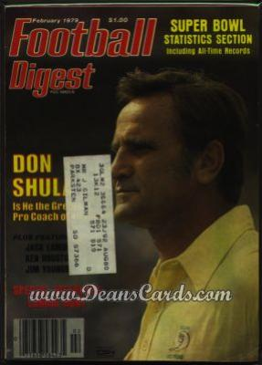 1979 Football Digest    February  - Don Shula