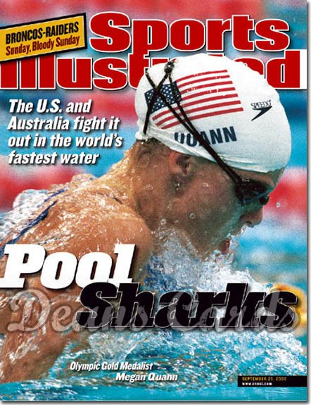 2000 Sports Illustrated - With Label   September 25  -  Megan Quann (Olympics Swimming / Swimmer)