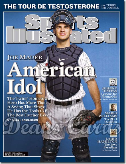 2006 Sports Illustrated - With Label   August 7  -  Joe Mauer Twins