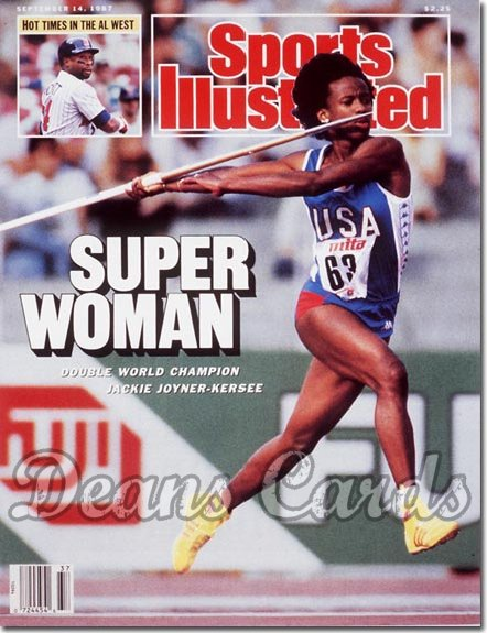 1987 Sports Illustrated - With Label   September 14  -  Jackie Joyner