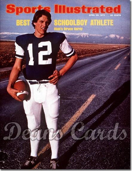 1974 Sports Illustrated - With Label   April 29  -  Bruce Hardy (Utah High School Football Player))