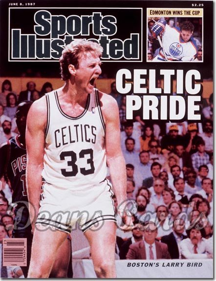 1987 Sports Illustrated - With Label   June 8  -  Larry Bird (Boston Celtics)