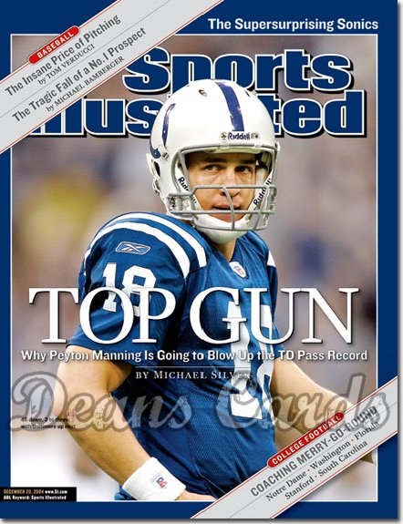 2004 Sports Illustrated - With Label   December 20  -  Peyton Manning Indianapolis Colts