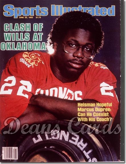 1983 Sports Illustrated - With Label   June 20  -  Marcus Dupree (Oklahoma Sooners)