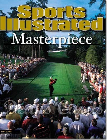 2001 Sports Illustrated - With Label   April 16  -  Tiger Woods