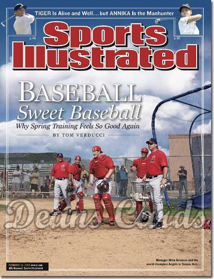 2003 Sports Illustrated - With Label   February 24  -  Mike Scioscia (Anaheim Angels)