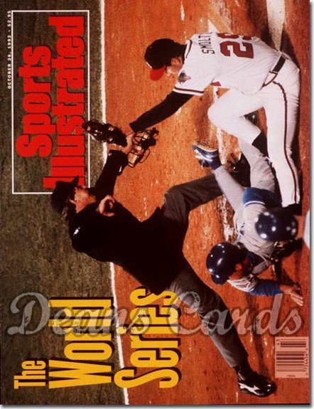 1992 Sports Illustrated - With Label   October 26  -  John Smoltz & Roberto Alomar Blue Jays vs Braves SI