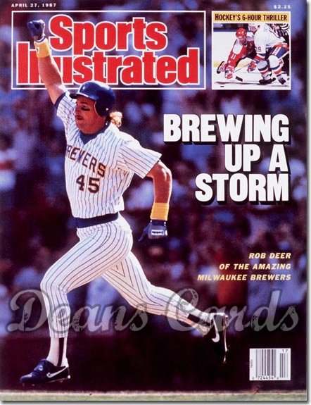 1987 Sports Illustrated - With Label   April 27  -  Rob Deer (Milwaukee Brewers)