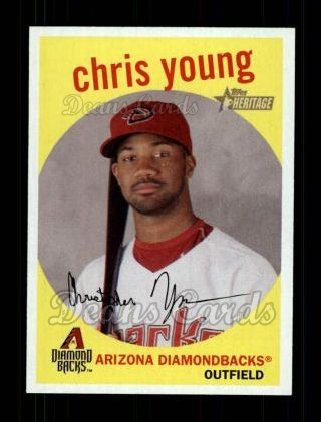 2008 Topps Heritage #229  Chris Young