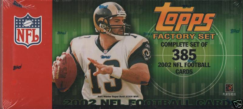 2002 Topps     Football Factory Sealed Complete Set
