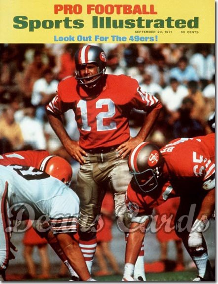 1971 Sports Illustrated - With Label   September 20  -  John Brodie (San Francisco 49ers)