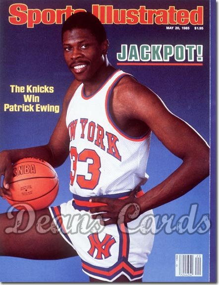 1985 Sports Illustrated - With Label   May 20  -  Patrick Ewing (New York Knicks)