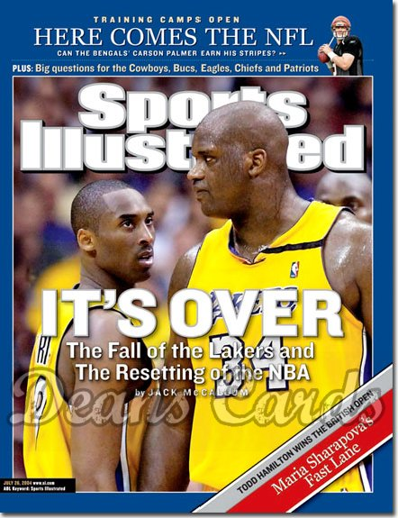 2004 Sports Illustrated - No Label   July 26  -  Shaquille O'neal Kobe Bryant LA Lakers