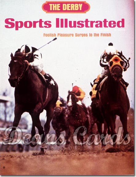 1975 Sports Illustrated - With Label   May 12  -  Foolish Pleasure (Kentucky Derby)