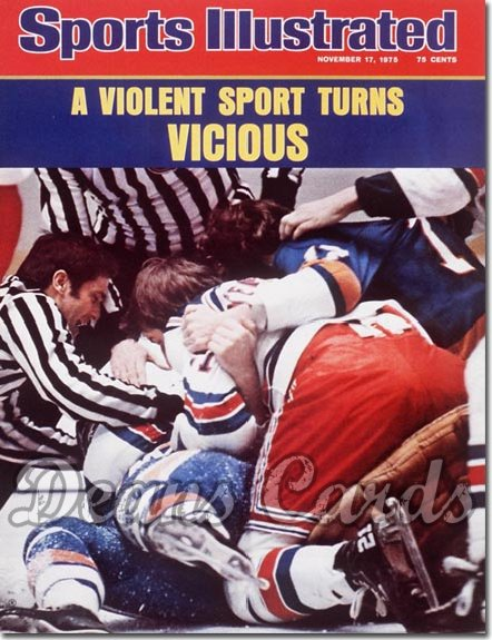 1975 Sports Illustrated - With Label   November 17  -  Hockey Players