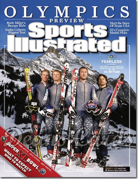 2006 Sports Illustrated - With Label   February 6  -  USA Olympic Ski Skiing Team