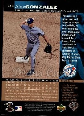 1997 Upper Deck #513  Alex Gonzalez