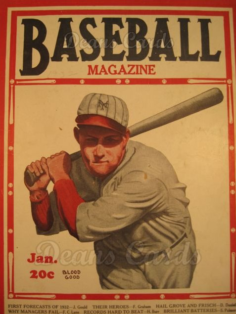 1932 Baseball Magazine    January