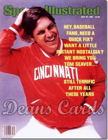 1981 Sports Illustrated - With Label   July 27  -  Tom Seaver (Cincinnati Reds)