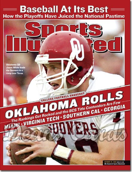 2003 Sports Illustrated - With Label   October 20  -  Jason White Oklahoma Sooners