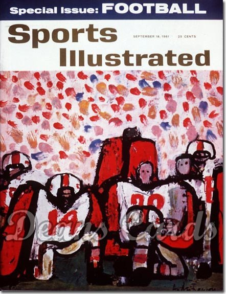 1961 Sports Illustrated - With Label   September 18  -  College Football Issue