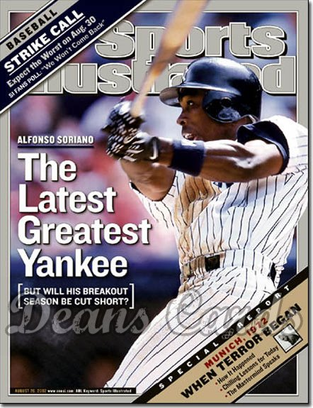 2002 Sports Illustrated - With Label   August 26  -  Alfonso Soriano NY