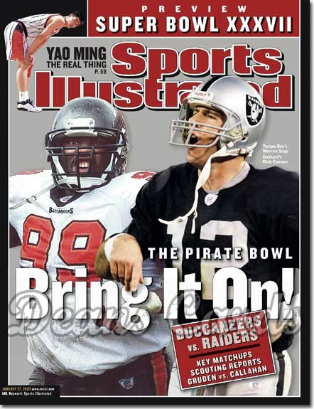 2003 Sports Illustrated - With Label   January 27  -  Rich Gannon (Raiders) Warren Sapp (Buccaneers)