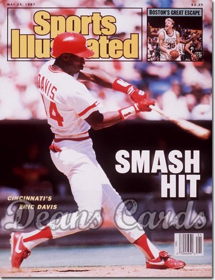 1987 Sports Illustrated - With Label   May 25  -  Eric Davis (Cincinnati Reds)