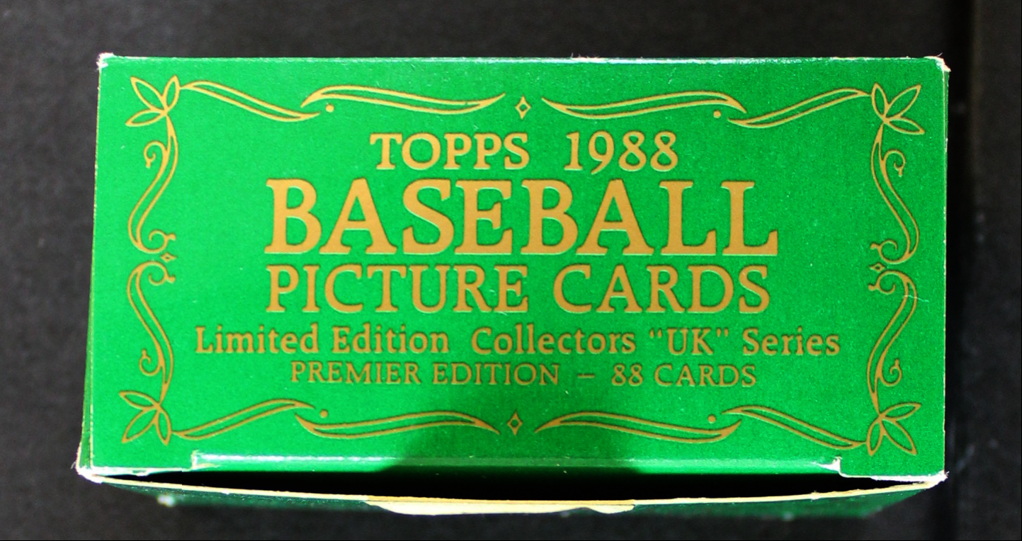 1988 Topps Tiffany Uk Minis Complete Set 8 Nmmt