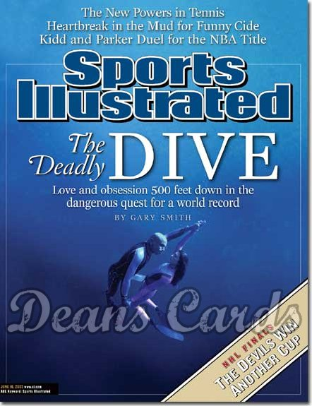 2003 Sports Illustrated - With Label   June 16  -  Pipin Ferreras Audrey Mestre (Deep Sea Diving)