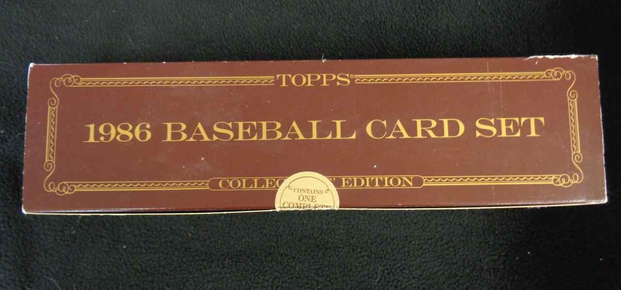 1986 Topps Tiffany 1986 Topps Tiffany Complete Set Factory Sealed
