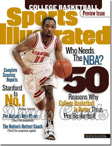 1998 Sports Illustrated - With Label   November 23  -  Arthur Lee Stanford Cardinals (College Basketball Issue)