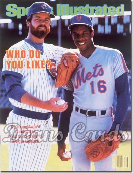 1984 Sports Illustrated - With Label   September 24  -  Dwight Gooden (New York Mets)/Rick Sutcliffe (Chicago Cubs)