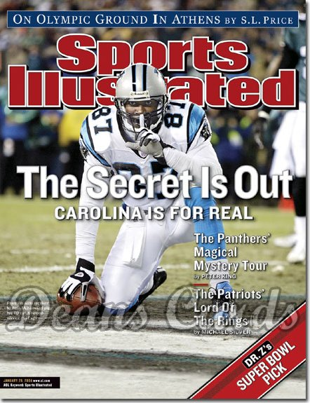 2004 Sports Illustrated - With Label   January 26  -  Muhsin Muhammad Carolina Panthers