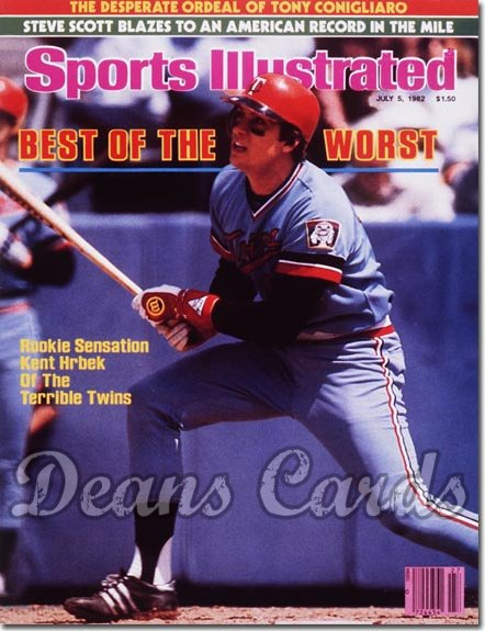 1982 Sports Illustrated - With Label   July 5  -  Kent Hrbek (Minnesota Twins)
