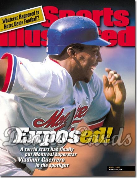 2000 Sports Illustrated - With Label   May 1  -  Vladimir Guerrero Montreal Expos