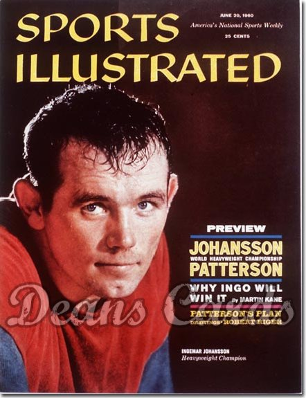 1960 Sports Illustrated - With Label   June 20  -  Ingemar Johansson