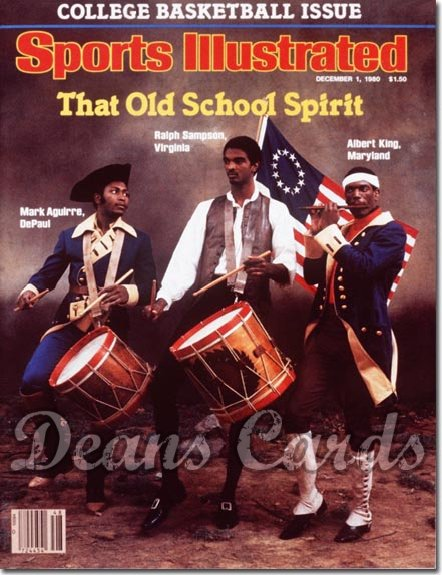 1980 Sports Illustrated - With Label   December 1  -  Ralph Sampson (Cavaliers) / Mark Aguirre (Blue Demons)