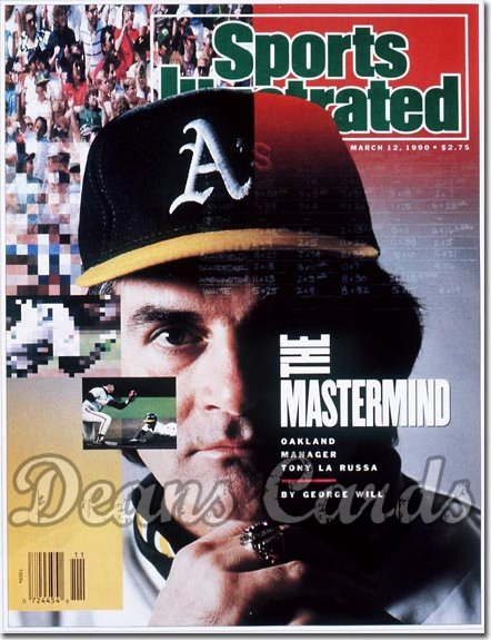 1990 Sports Illustrated - With Label   March 12  -  Tony La Russa (Oakland A's)