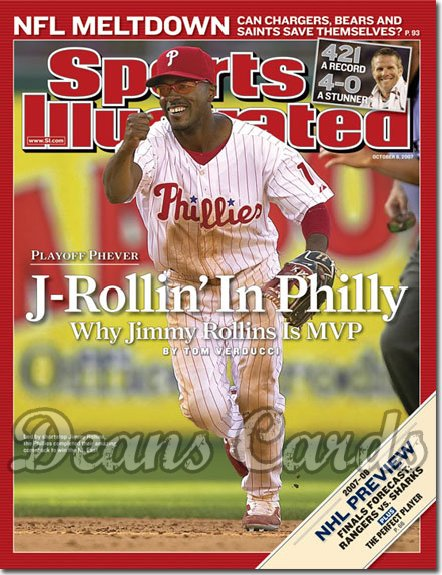 2007 Sports Illustrated - With Label   October 8  -  Jimmy Rollins