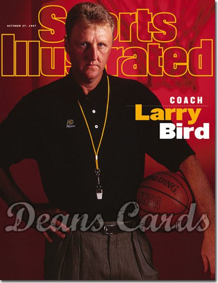 1997 Sports Illustrated - With Label   October 27  -  Larry Bird (Indiana Pacers)